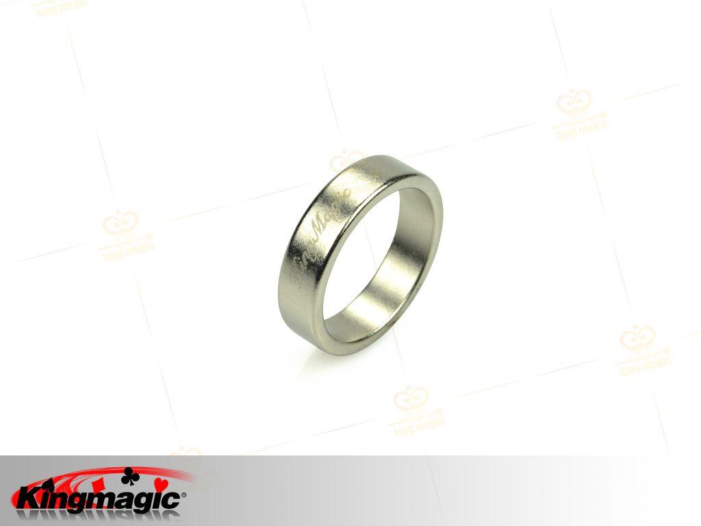 >> 银色花纹磁力戒指(小)